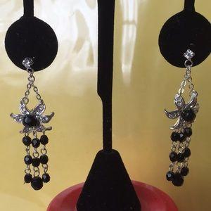 Designer black earrings